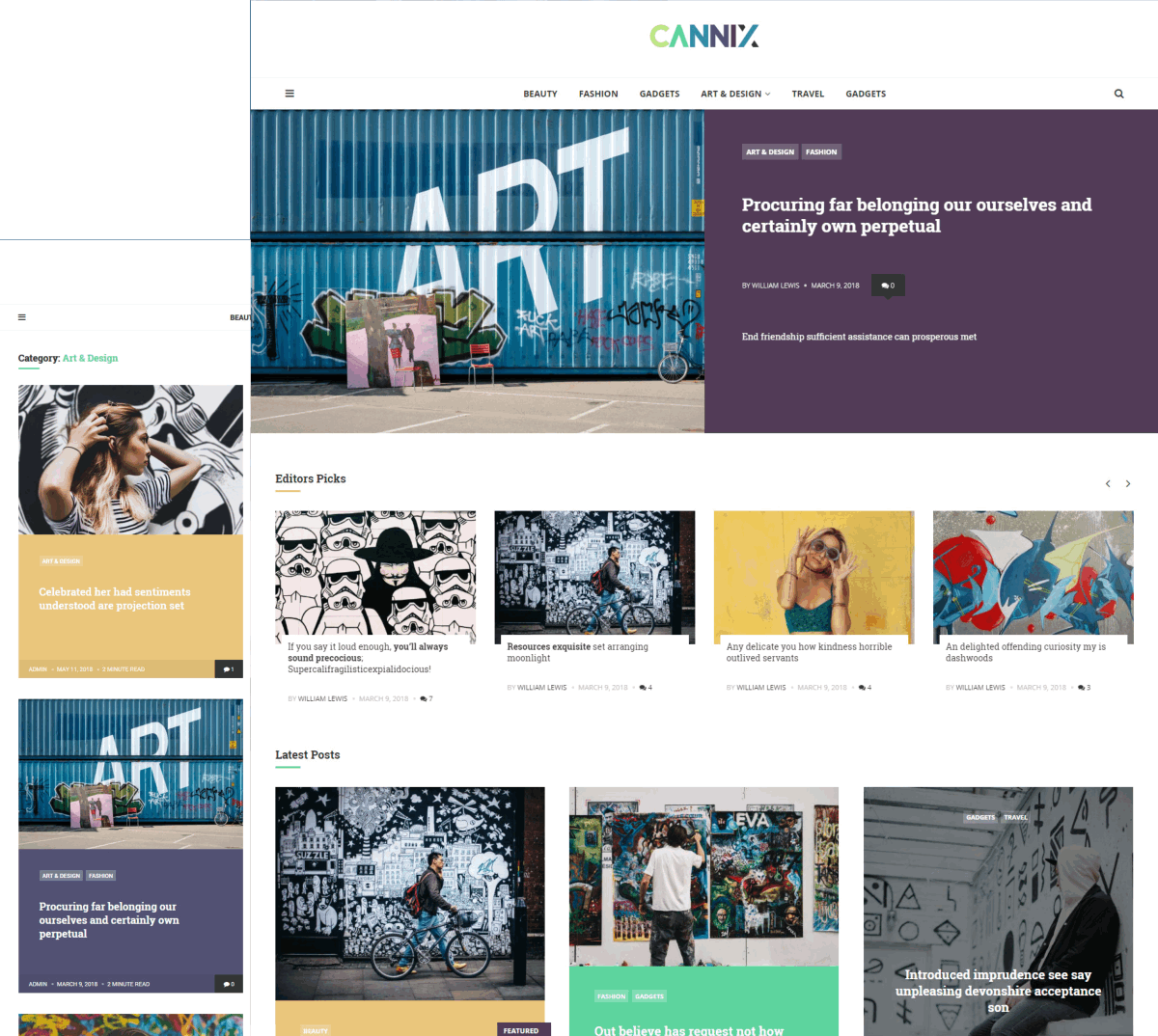 cannix wordpress theme