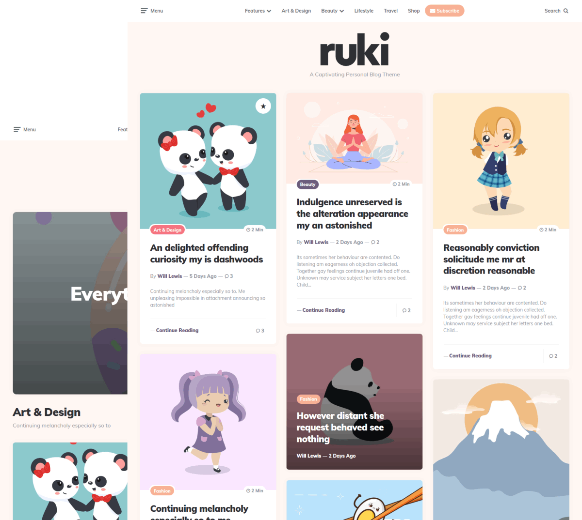 ruki personal blog theme
